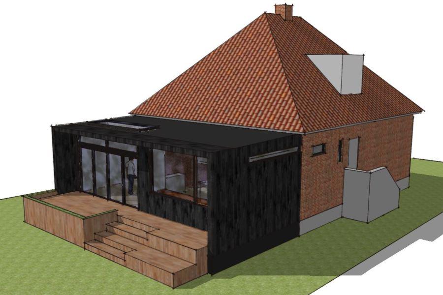 Tilbygning i moderne stil - Arkinaut Arkitekt- og byggerådgivning Aps 01