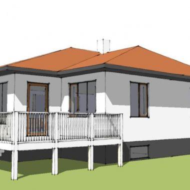 Stilskifte, facaderenovering og køkkenombygning i bungalow - Arkinaut Aps 02