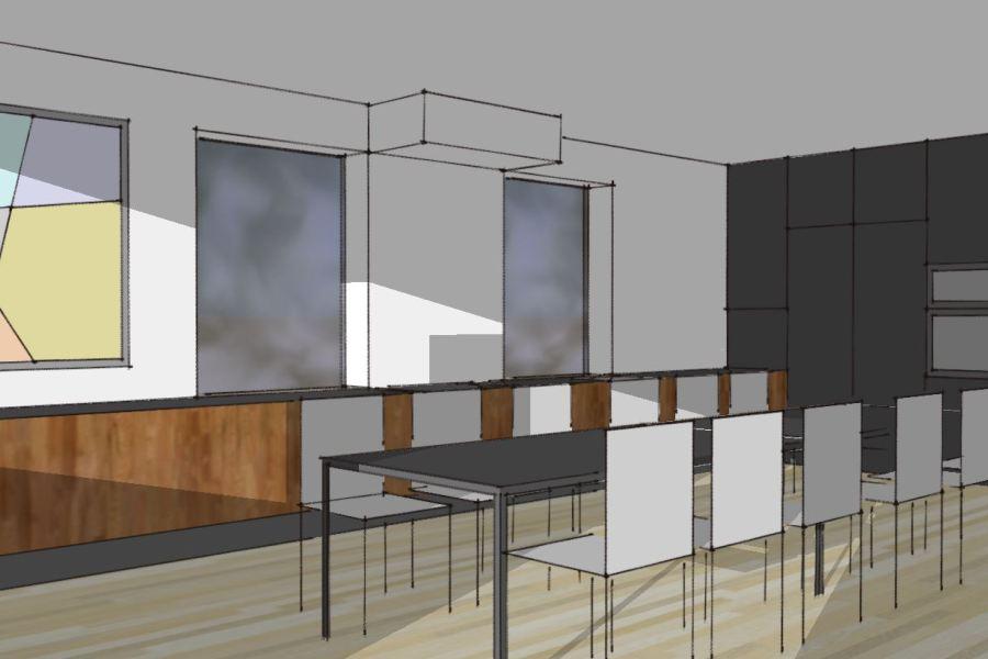 Stilskifte, facaderenovering og køkkenombygning i bungalow - Arkinaut Aps 04