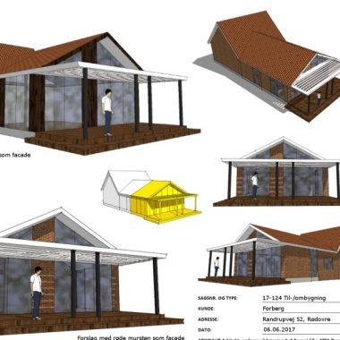 Tilbygning ved forlængelse af eksisterende udbygning - Arkinaut Arkitekt- og byggerådgivning Aps 01