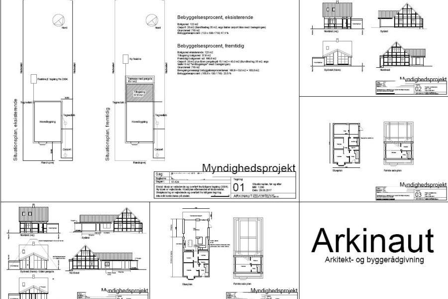 Tilbygning ved forlængelse af eksisterende udbygning - Arkinaut Arkitekt- og byggerådgivning Aps 03