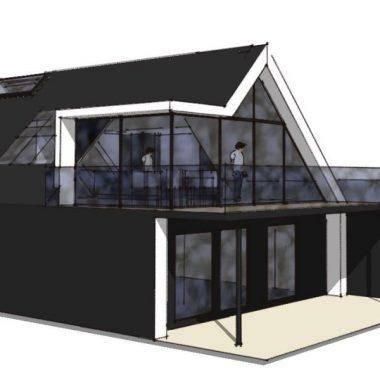 Køkken/alrum på 1. sal - Ombygning - Arkinaut Arkitekt- og byggerådgivning Aps 01