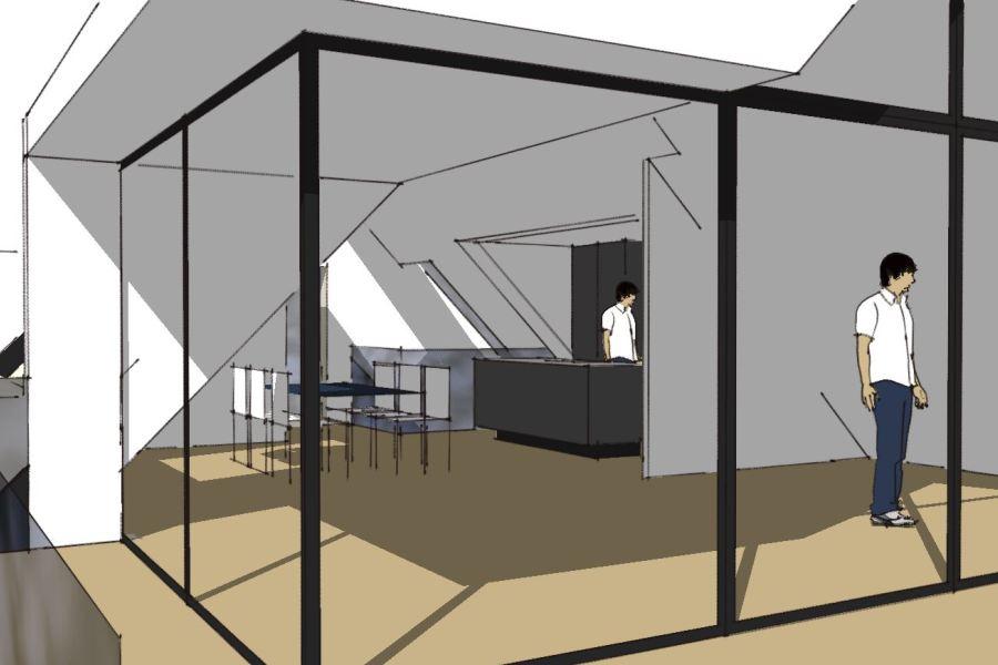 Køkken/alrum på 1. sal - Ombygning - Arkinaut Arkitekt- og byggerådgivning Aps 03
