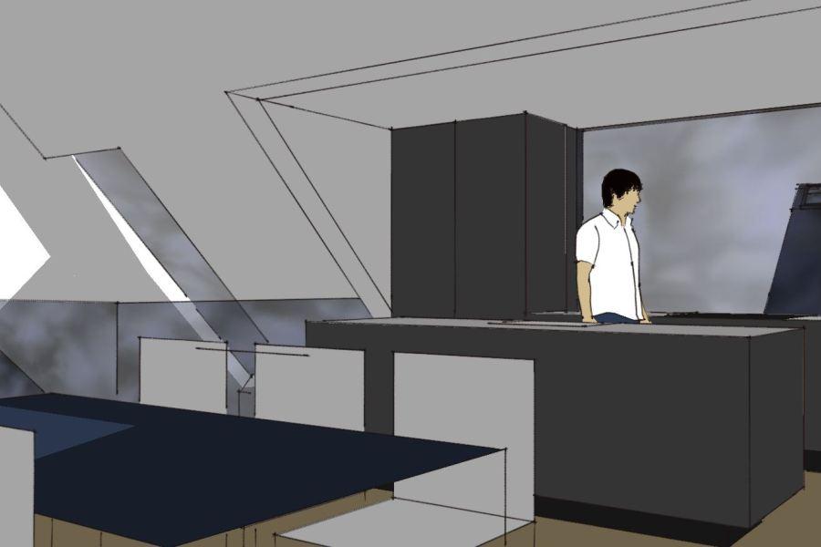 Køkken/alrum på 1. sal - Ombygning - Arkinaut Arkitekt- og byggerådgivning Aps 04
