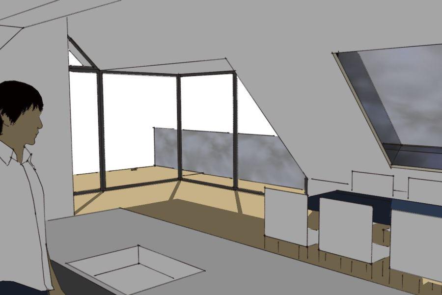 Køkken/alrum på 1. sal - Ombygning - Arkinaut Arkitekt- og byggerådgivning Aps 07