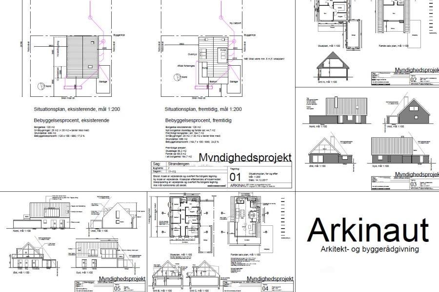 Køkken/alrum på 1. sal - Ombygning - Arkinaut Arkitekt- og byggerådgivning Aps 09
