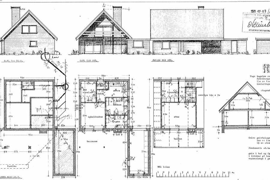 Køkken/alrum på 1. sal - Ombygning - Arkinaut Arkitekt- og byggerådgivning Aps 12