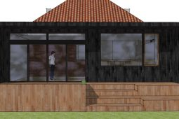 TIlbygning i moderne stil - skitseforslag - Arkinaut Arkitekt- og byggerådgivning Aps