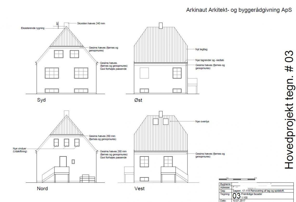 Tagudskiftning og inddrage loftrum - Arkinaut Arkitekt- og byggerådgivning Aps 01