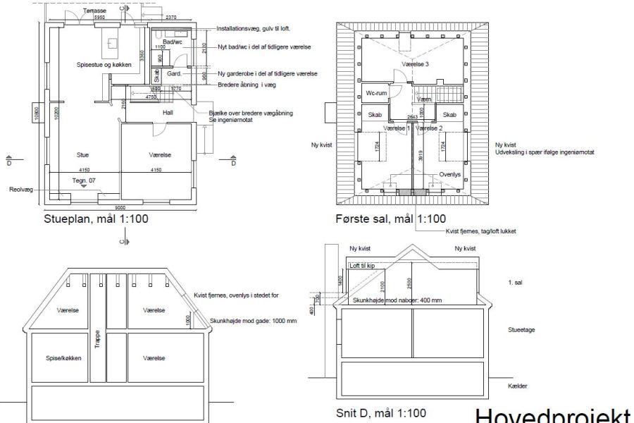 Kvist, badeværelse, køkken m.v. - Arkinaut Arkitekt- og byggerådgivning Aps 02