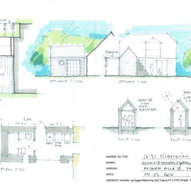Tilbygning uden at røre eksisterende tag - Arkinaut Arkitekt- og byggerådgivning Aps 01