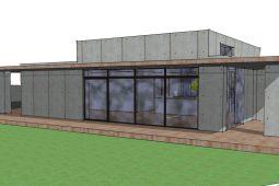 Skitser til villa i beton og træ - Arkinaut Arkitekt og Byggerådgtivning ApS