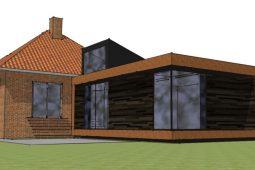 Tilbygning med Corten-stål facader - Arkinaut Arkitekt- og byggerådgivning Aps
