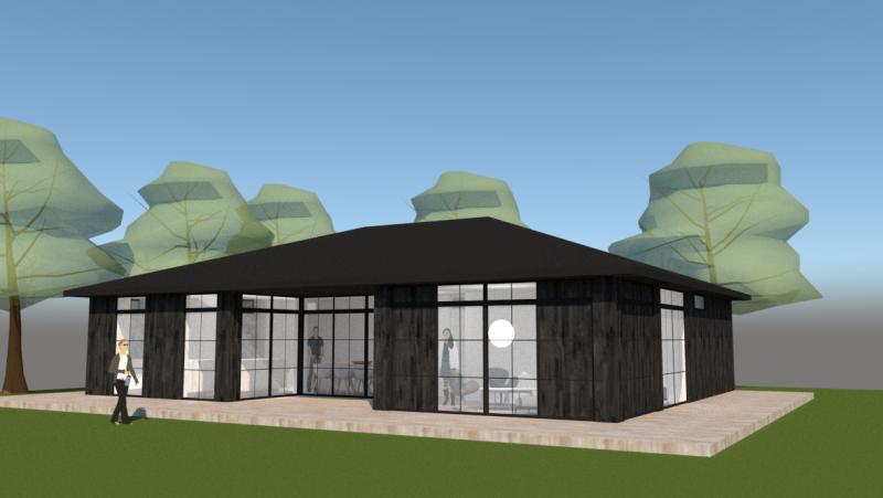 Arkitekttegnet sommerhus - Arkinaut Arkitekt- og byggerådgivning ApS 2