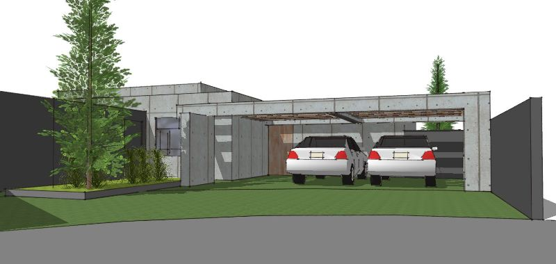 Arkitekttegnet hus i beton - Arkinaut Arkitekt- og byggerådgivning Aps 1