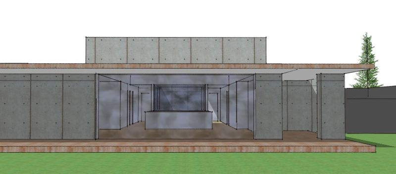 Arkitekttegnet hus i beton - Arkinaut Arkitekt- og byggerådgivning Aps 2