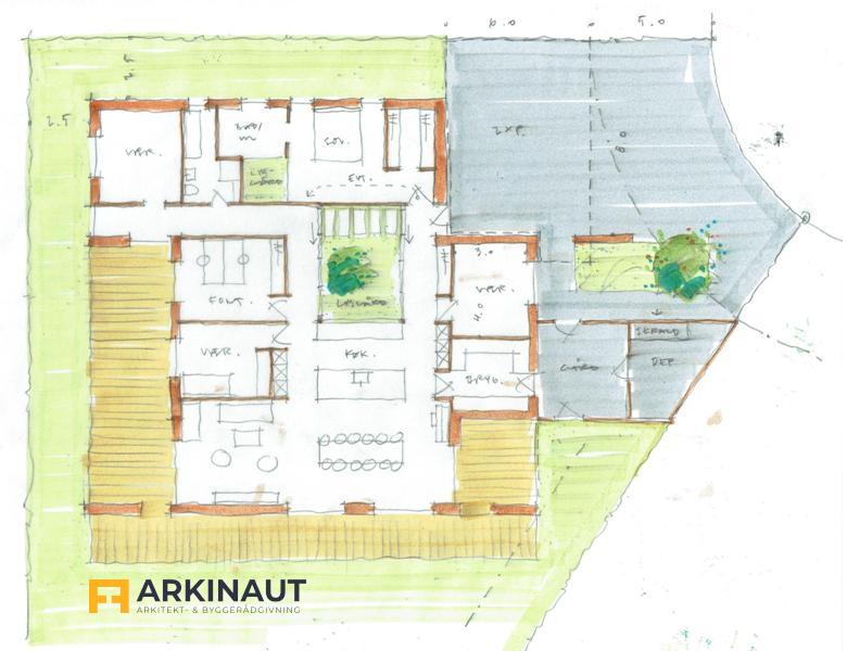 Arkitekttegnet hus i beton - Arkinaut Arkitekt- og byggerådgivning Aps 5