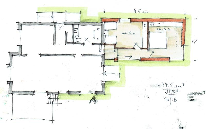 Tilbygning til murermestervilla - ARKINAUT Arkitekt- og Byggerådgivning Aps 3