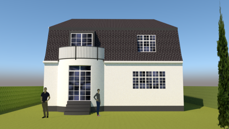 Ny første sal på bungalow og samtidig ændring til patricierstil - Arkinaut Aps