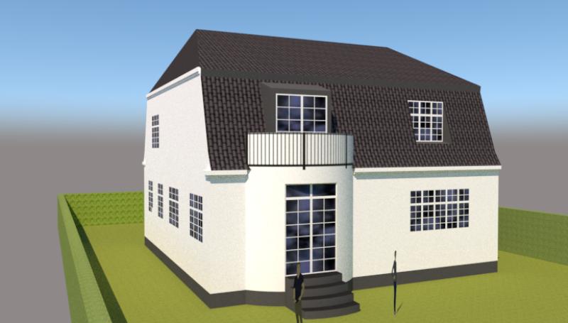Ny første sal på bungalow og samtidig ændring til patricierstil - Arkinaut Aps 2