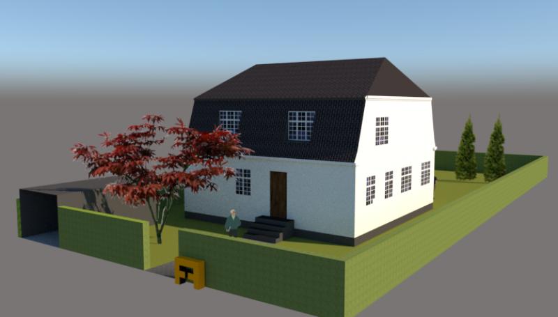 Ny første sal på bungalow og samtidig ændring til patricierstil - Arkinaut Aps 3