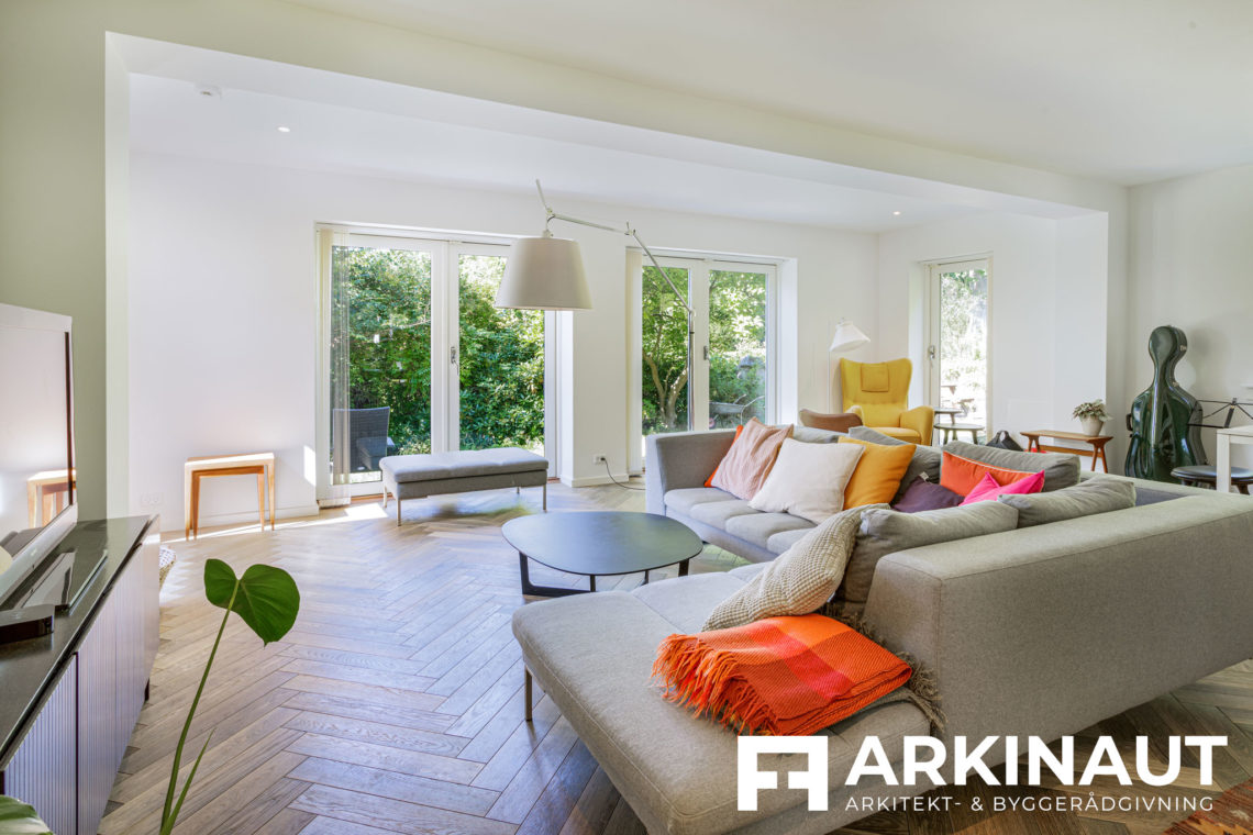 Tilbygning i to etager - Arkinaut Arkitekt- og byggerådgivning ApS