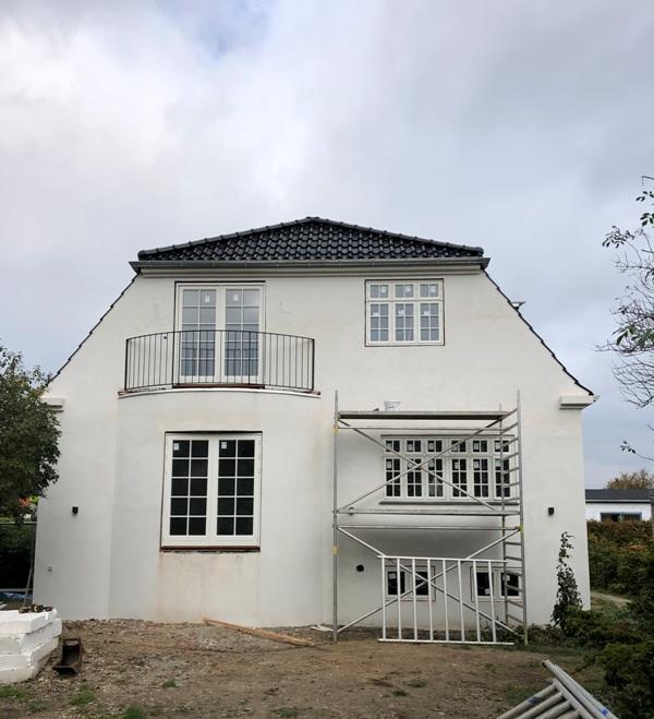 Ombygning af bungalow til patricierstil - Arkinaut Arkitekt- og byggerådgivning ApS