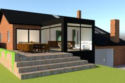 Tilbygning - Skitseforslag - ARKINAUT Arkitekt- og byggerådgivning Aps