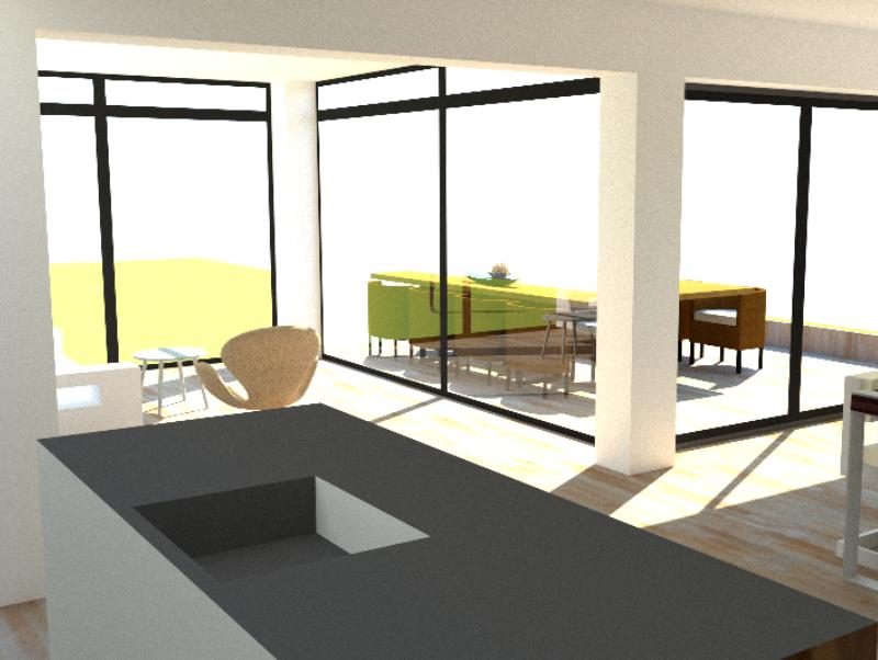 Tilbygning og køkken/alrum - Arkinaut Arkitekt- og byggerådgivning ApS 6