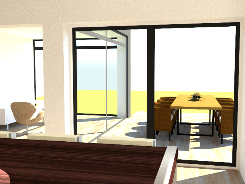Tilbygning og køkken/alrum - Arkinaut Arkitekt- og byggerådgivning ApS 4