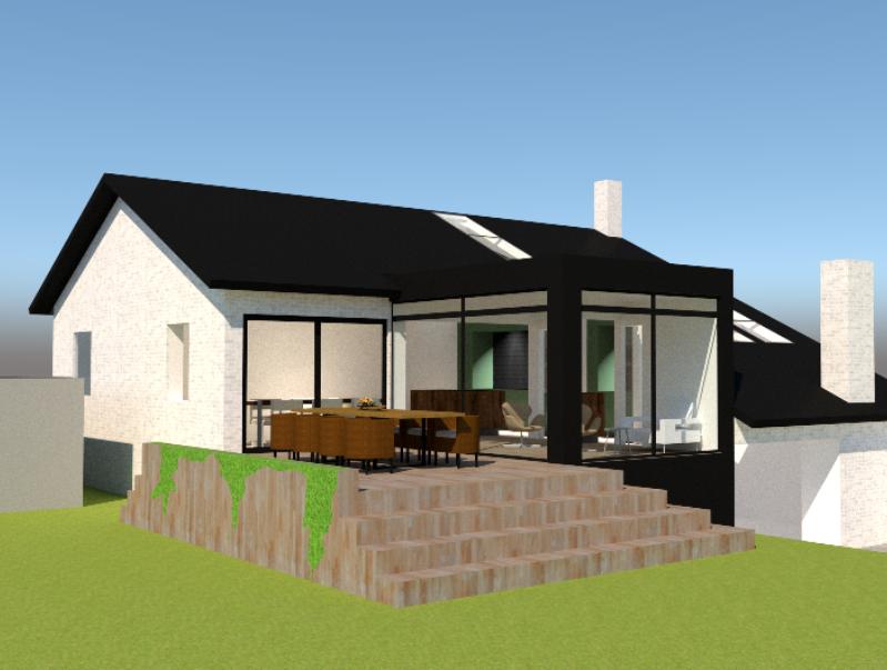 Tilbygning og køkken/alrum - Arkinaut Arkitekt- og byggerådgivning ApS