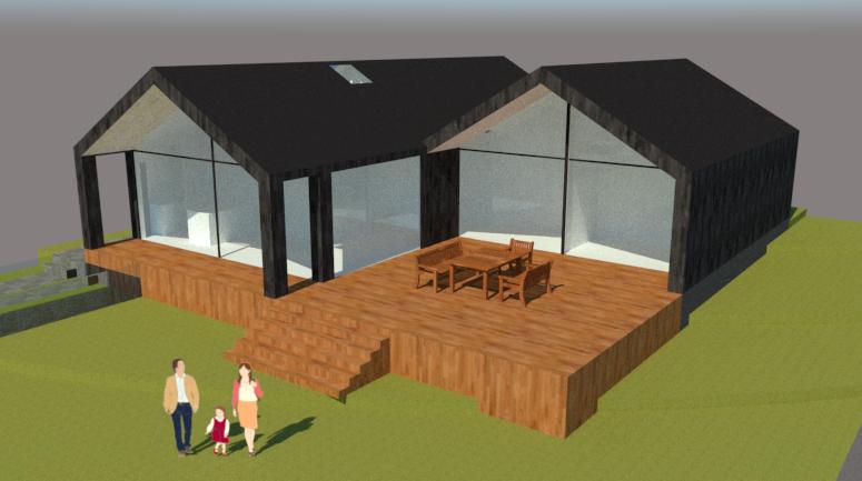 Arkitekttegnet hus på skråning - Arkinaut Arkitekt- og byggerådgivning ApS 5