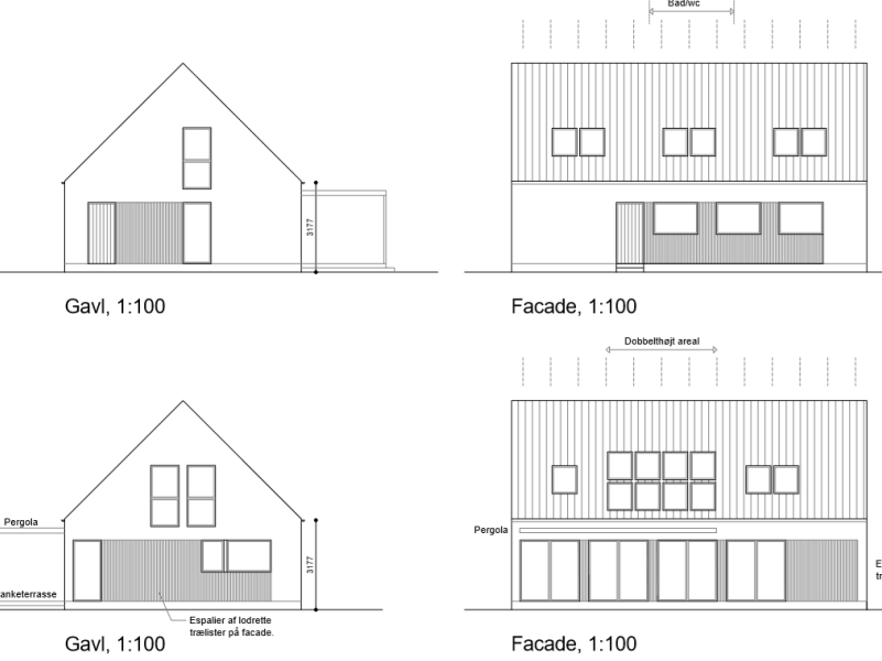 Ny første sal på enfamiliehus - Arkinaut Arkitekt- og byggerådgivning ApS
