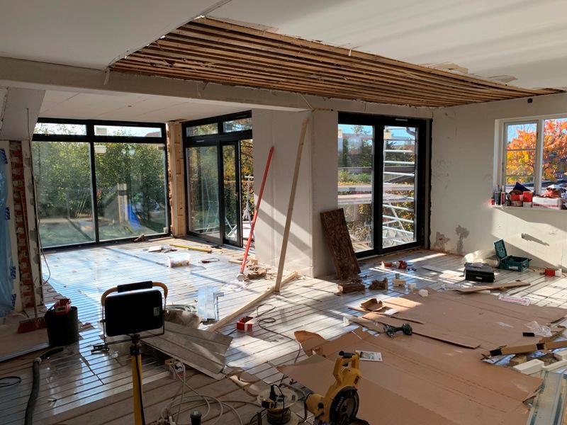 Tilbygning med flytning af køkken - Arkinaut Arkitekt- og byggerådgivning ApS