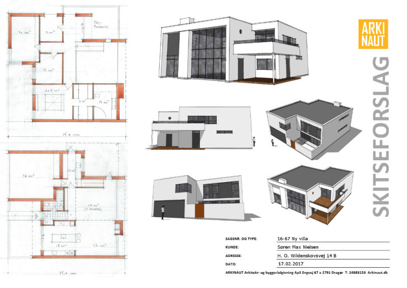 Arkitekttegnet villa på naturgrund - Arkinaut arkitekt- og byggerådgivning aps 1