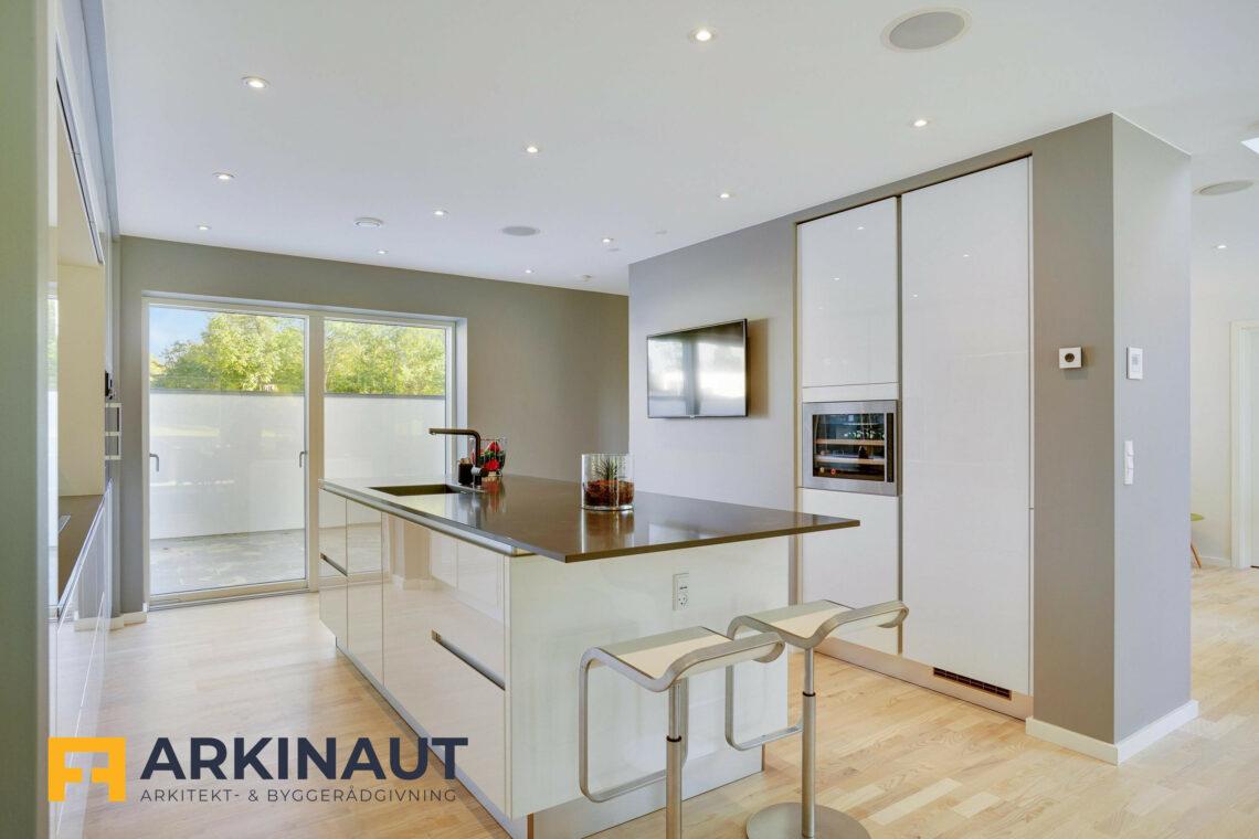 Arkitekttegnet hus med dobbelthøjt rum - Arkinaut Arkitekt- og byggerådgivning ApS 4