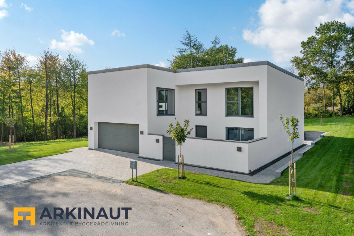 Arkitekttegnet hus med dobbelthøjt rum - Arkinaut Arkitekt- og byggerådgivning ApS 6
