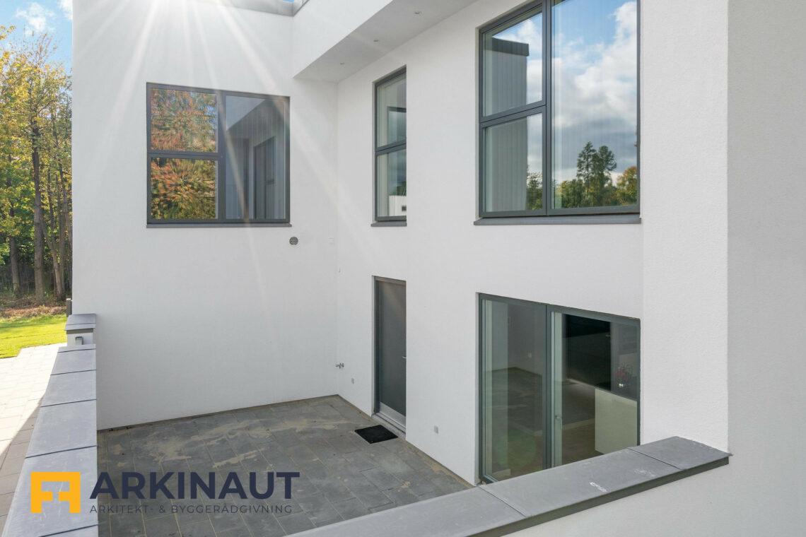 Arkitekttegnet hus med dobbelthøjt rum - Arkinaut Arkitekt- og byggerådgivning ApS 7