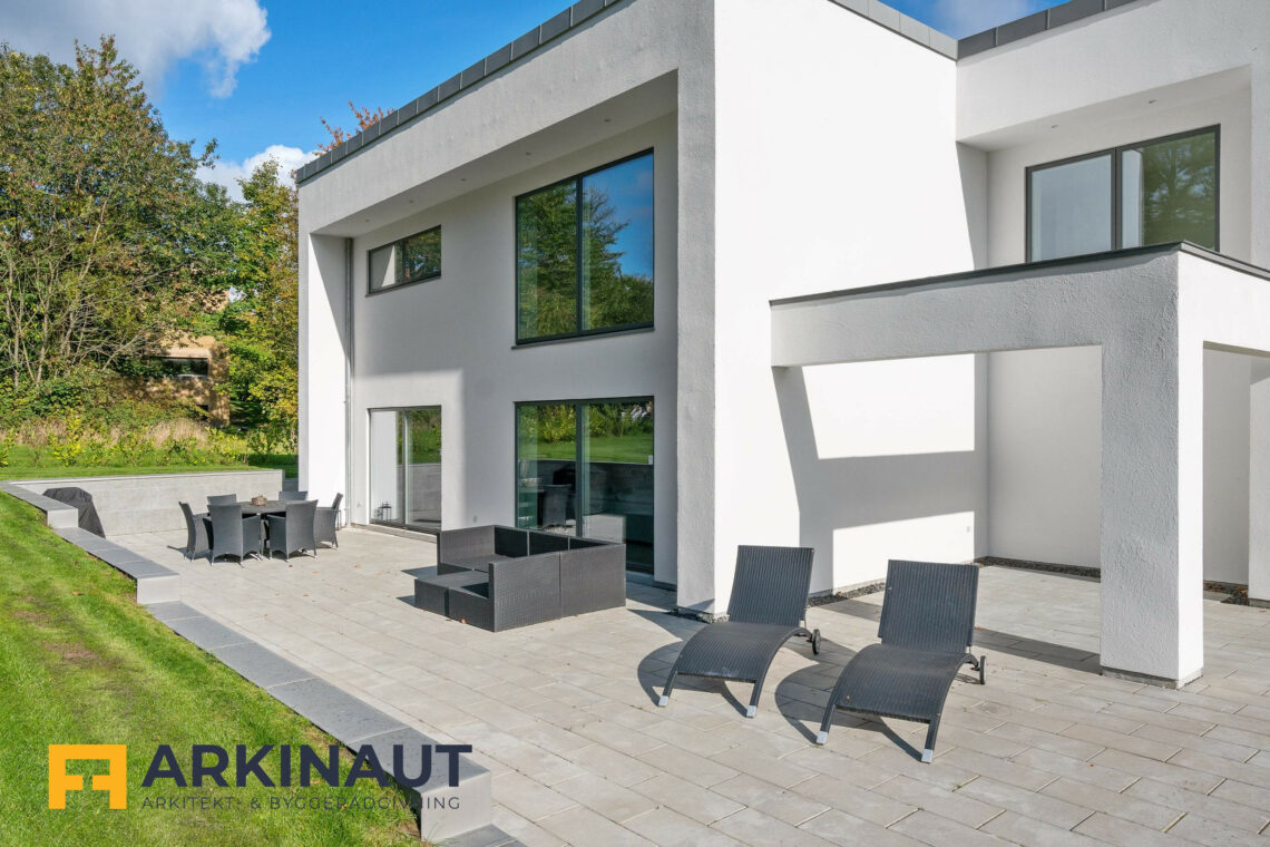 Arkitekttegnet hus med dobbelthøjt rum - Arkinaut Arkitekt- og byggerådgivning ApS 9
