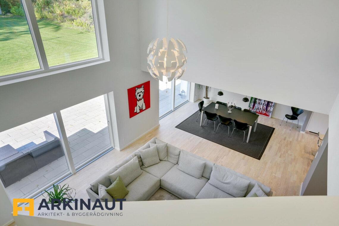 Arkitekttegnet hus med dobbelthøjt rum - Arkinaut Arkitekt- og byggerådgivning ApS 12