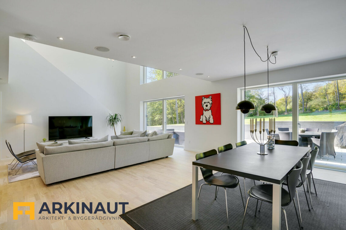 Arkitekttegnet hus med dobbelthøjt rum - Arkinaut Arkitekt- og byggerådgivning ApS 13