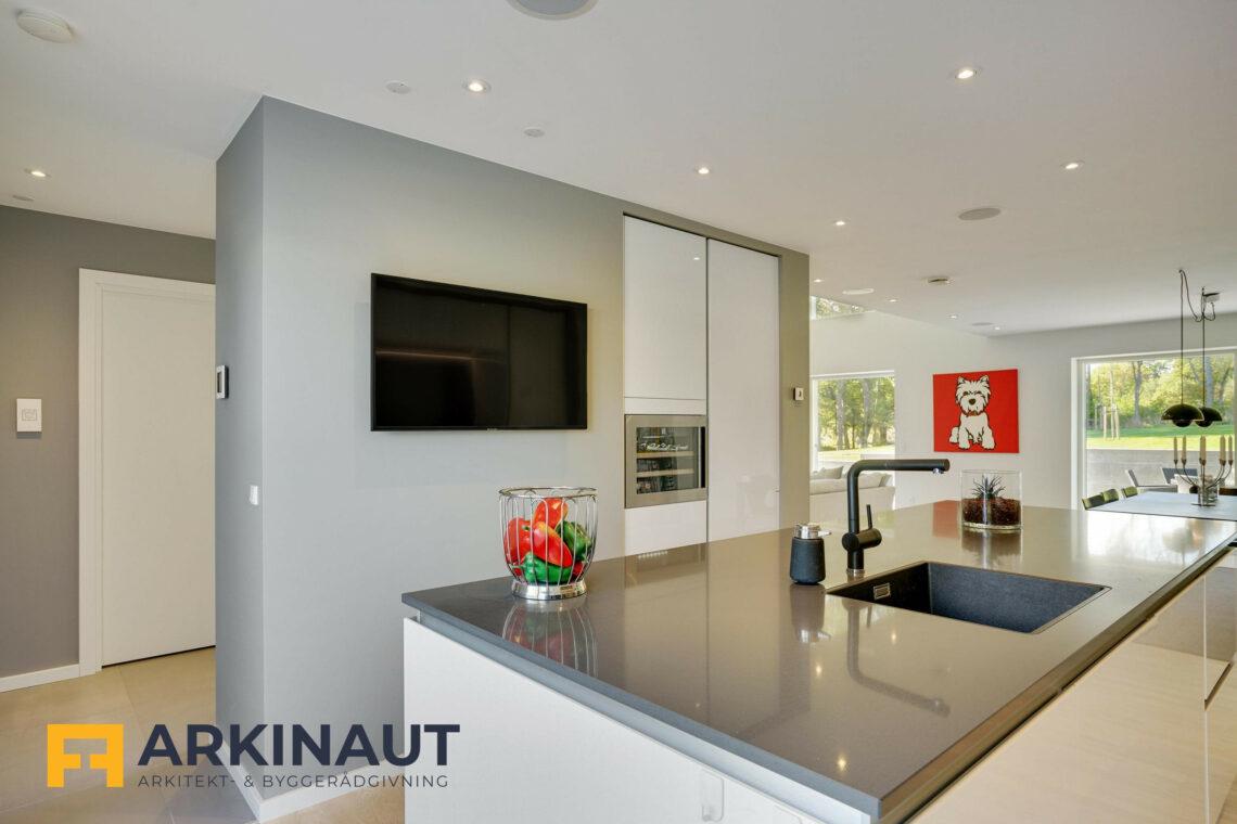 Arkitekttegnet hus med dobbelthøjt rum - Arkinaut Arkitekt- og byggerådgivning ApS 16