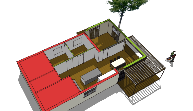Tilbygning med pergola - Arkinaut Arkitekt- og byggerådgivning Aps 1