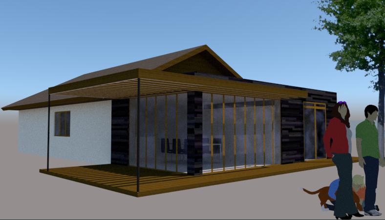 Tilbygning med pergola - Arkinaut Arkitekt- og byggerådgivning Aps 2