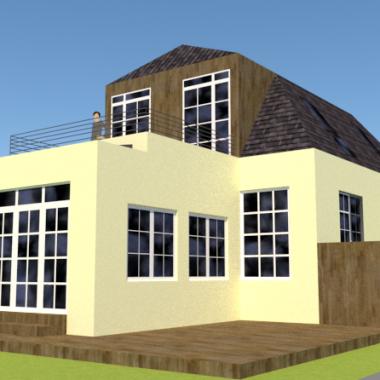 Ny første sal og ombygning af bungalow - Arkinaut Arkitekt- og byggerådgivning ApS
