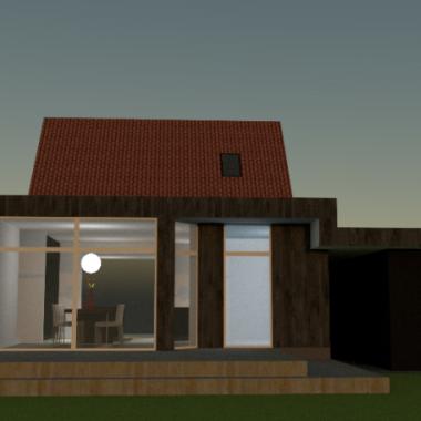 Tilbygning til ældre træhus - Arkinaut Arkitekt- og byggerådgivning Aps 2