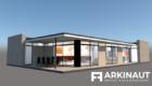 Moderne arkitekttegnet hus - Arkinaut Arkitekt- og byggerådgivning ApS