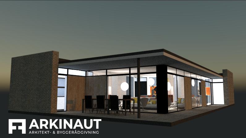 Moderne arkitekttegnet hus - Arkinaut Arkitekt- og byggerådgivning ApS 3
