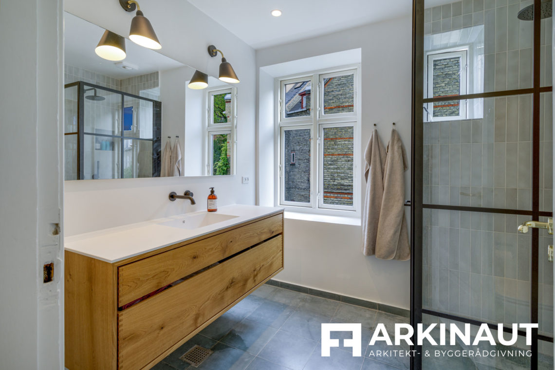 Renovering af rækkehus - Arkinaut Arkitekt- og byggerådgivning ApS