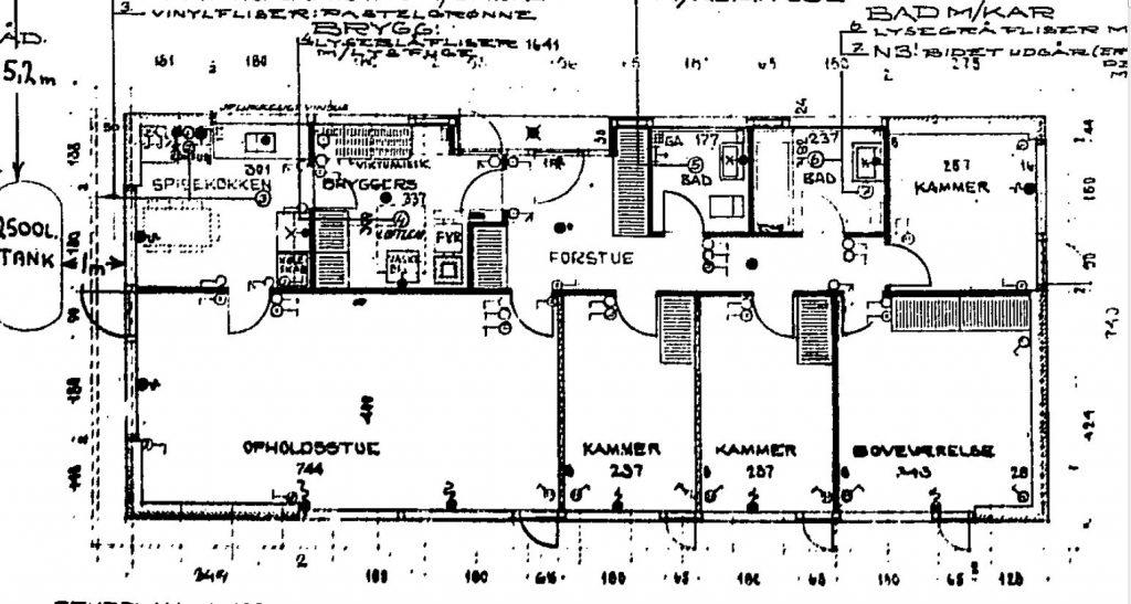 Parcelhus, typisk planløsning - Arkinaut Arkitekt- og byggerådgivning ApS